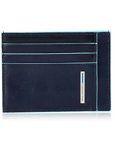 Piquadro Blue Square credit card pouch, Dark Blue - PP2762B2/BLU2