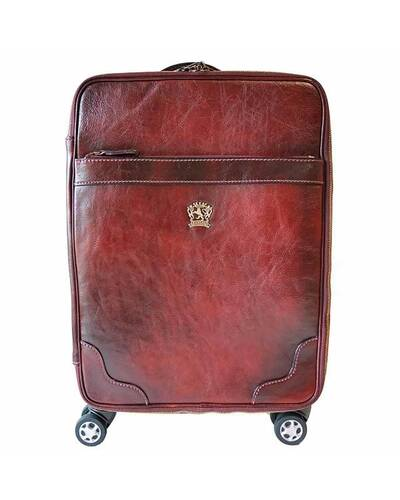 Pratesi Intercontinental trolley in genuine leather - B275 Bruce Chianti