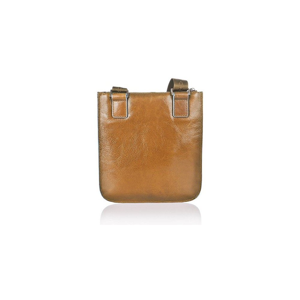 Piquadro Blue Square flat pocket cross-body bag, Sand - CA1358B2/SA