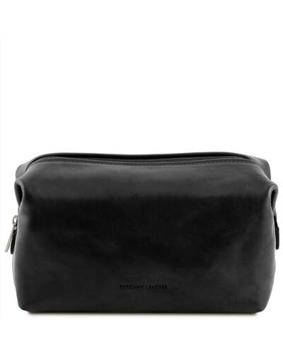 Tuscany Leather - Smarty - Leather toilet bag - Large size Black - TL141219/2