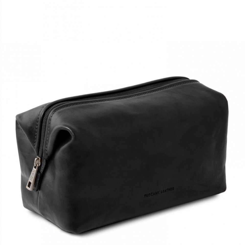 Tuscany Leather - Smarty - Beauty case in pelle - Misura piccola Nero - TL141220/2