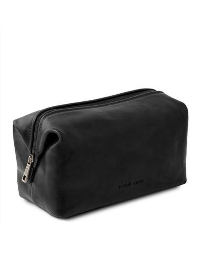 Tuscany Leather - Smarty - Leather toilet bag - Small size Black - TL141220/2