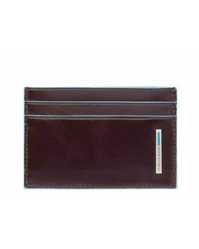 Piquadro Blue Square credit card holder in leather, Mahogany - PP906B2/MO