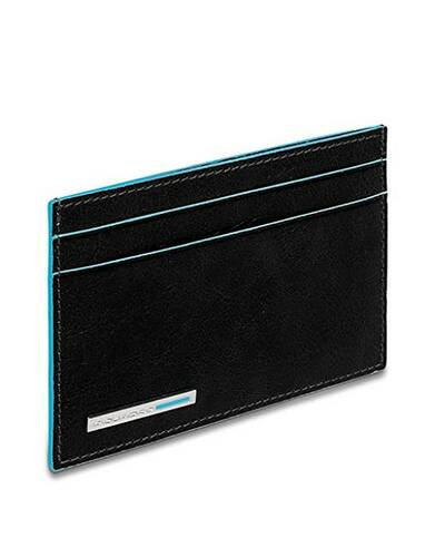 Piquadro Blue Square credit card holder in leather, Black - PP906B2/N