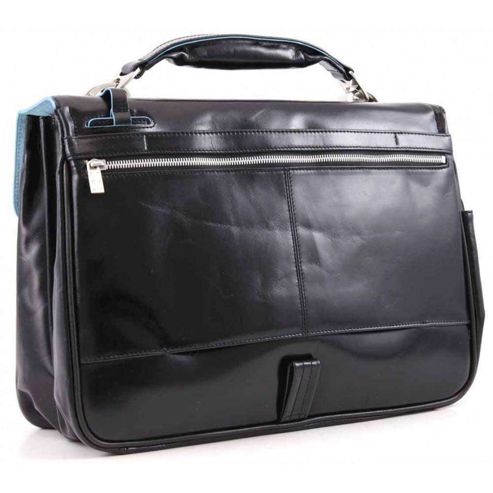 Piquadro Blue Square cartella porta computer con tasca porta iPad e ombrello, Nero - CA1095B2/N