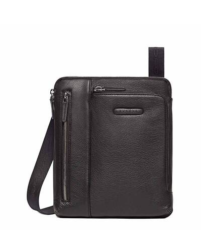 Piquadro Modus iPad®Air/Air2 shoulder pocket bag with pocket for mp3 player and eyelet for earphones, Black - CA1816MO/N