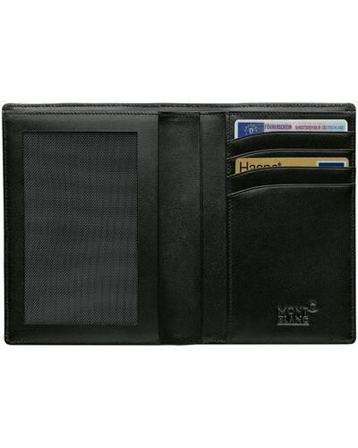 Montblanc Meisterstuck Portafoglio 4 scomparti con tasca trasparente, Nero - MB02664