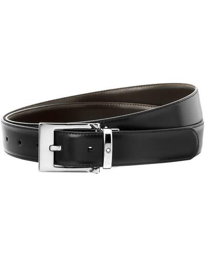 Montblanc cintura elegante reversibile cut-to-size, Nera/Marrone - MB09774