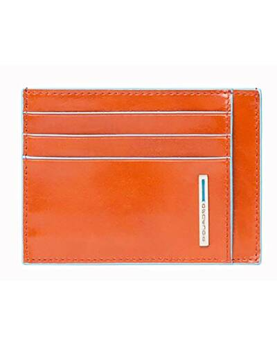 Piquadro Blue Square credit card pouch, Orange - PP2762B2/AR