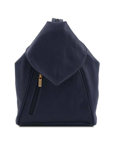 Tuscany Leather - Delhi - Leather backpack Dark Blue - TL140962/107