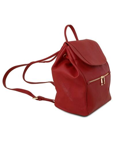 Tuscany Leather - TL Bag - Soft leather backpack for women Red - TL141697/4