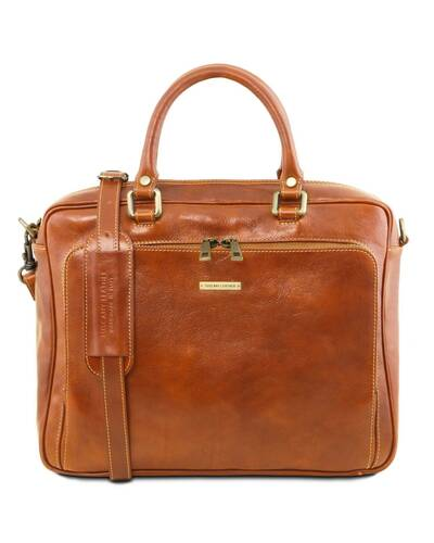 Tuscany Leather TL Messenger Borsa a tracolla porta notebook in pelle 2 scomparti Marrone - TL141650/1
