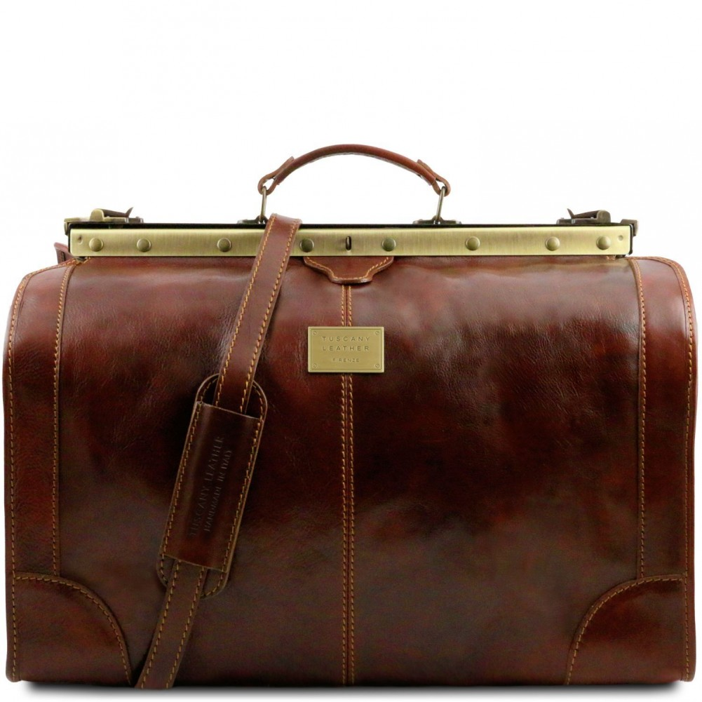 Tuscany Leather - Madrid - Gladstone Leather Bag - Large size Brown -  TL1022 1 a60c21406bb51