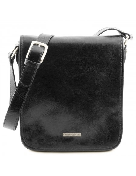 Tuscany Leather - TL Messenger - Borsa a tracolla 2 scomparti Nero - TL141255/2