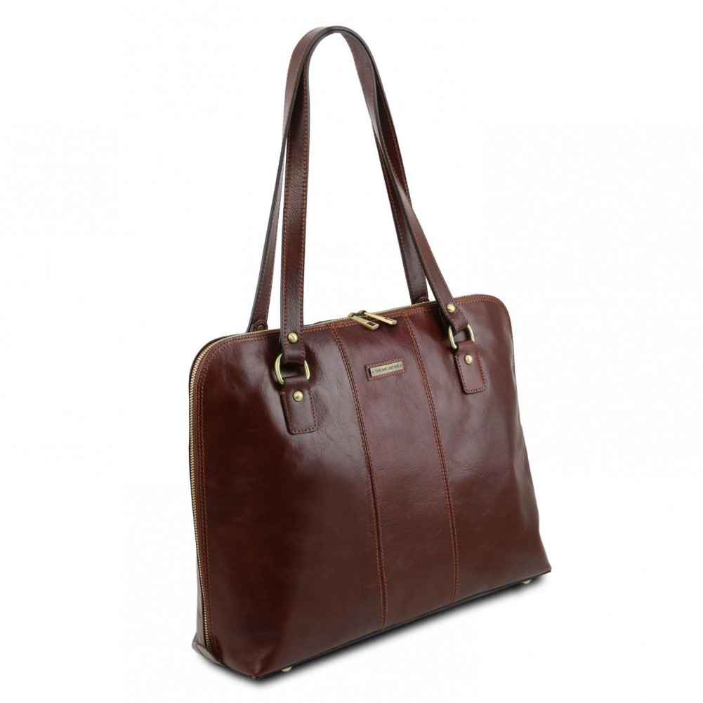 Tuscany Leather Ravenna Exclusive lady business bag Red - TL141795/4