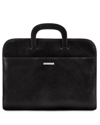 Tuscany Leather - Sorrento - Document Leather briefcase Black - TL141022/2