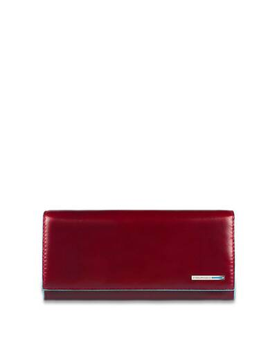 Piquadro Blue Square Women's flap-over wallet, Red - PD3411B2/RO