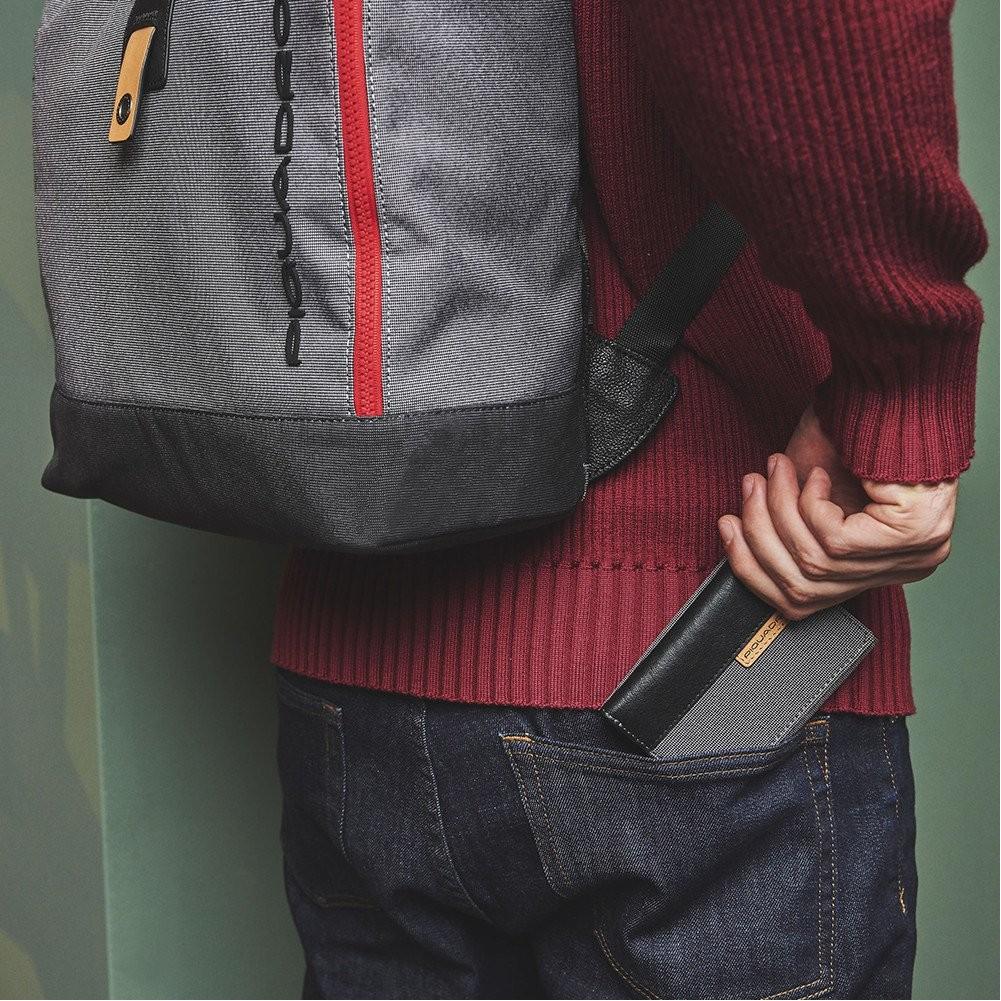 Piquadro Blade Portafoglio con portamonete e porta carte di credito, Grigio - PU4455BL/GR