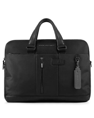 Piquadro Brief briefcase, ready for CONNEQU and RFID anti-fraud device, Black - CA3339BR/N