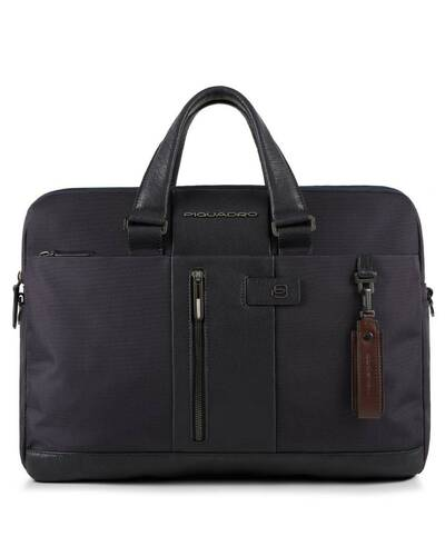 Piquadro Brief briefcase, ready for CONNEQU and RFID anti-fraud device, Blue - CA3339BR/BLU