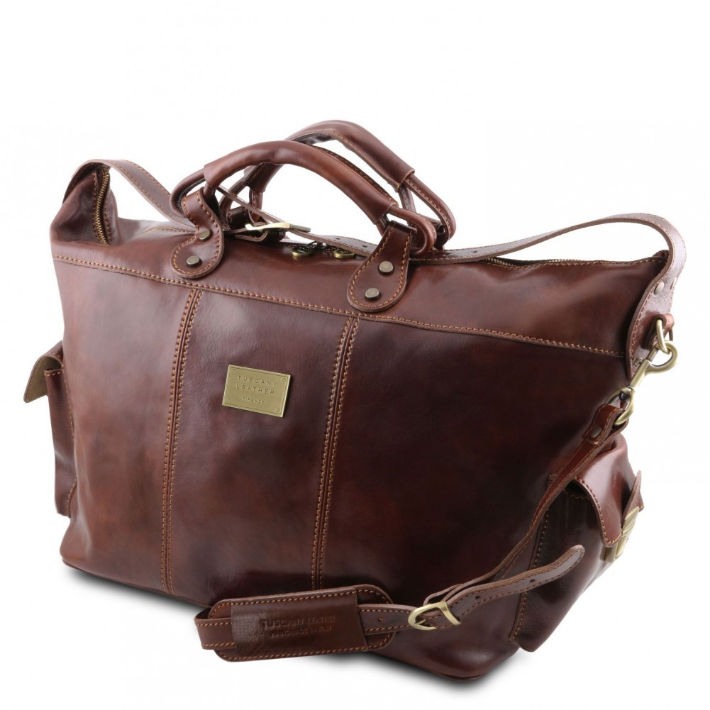 Tuscany Leather - Porto - Borsa da viaggio in pelle Marrone - TL140938/1