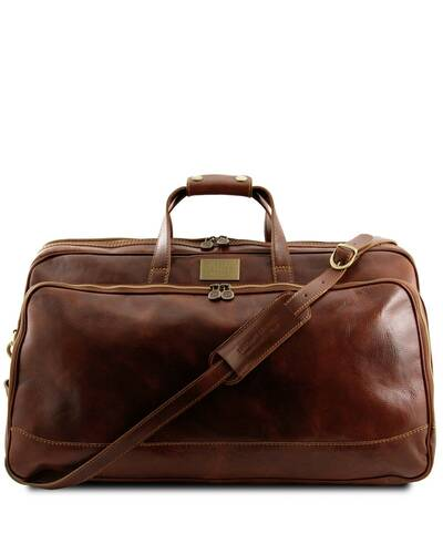Tuscany Leather - Bora Bora - Trolley leather bag - Large size Brown - TL3067/1