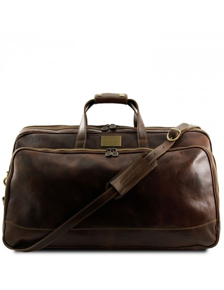Tuscany Leather - Bora Bora - Trolley leather bag - Large size Dark Brown - TL3067/5