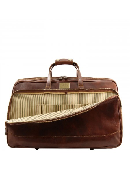 Tuscany Leather - Bora Bora - Trolley leather bag - Small size Brown - TL3065/1