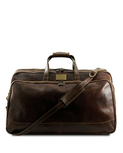 Tuscany Leather - Bora Bora - Borsa-Trolley in pelle - Misura piccola Testa di Moro - TL3065/5