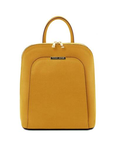 Tuscany Leather TL Bag - Saffiano leather backpack for women Mustard - TL141631/104