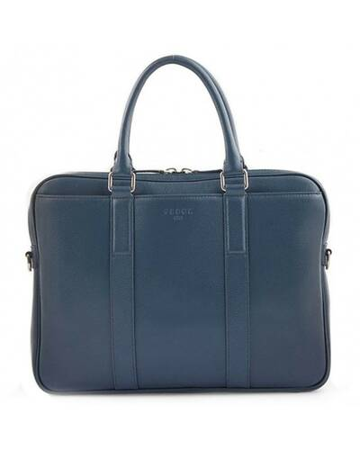 """Fedon 1919 - Ohanian - Leather briefcase for 13"""" laptop, Blue - MB1910026/BLU"""