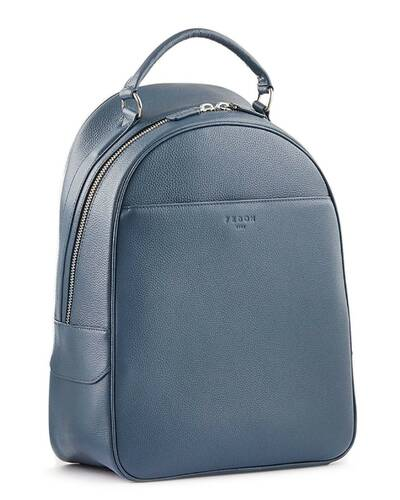"""Fedon 1919 - Ohanian - Leather backpack for 15"""" laptop, Blue - MZ1910023/BLU"""