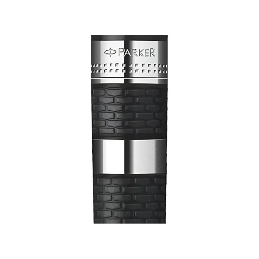 Parker Stilografica Ingenuity Black Metal & Rubber CT Large - PA0959230