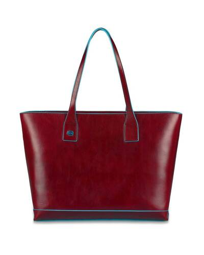 Piquadro Blue Square Shopping bag in leather, Red - BD3336B2/RO