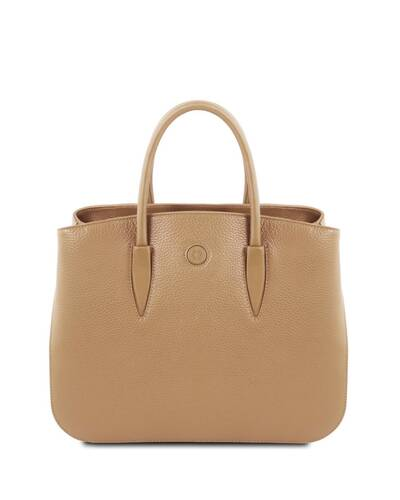 Tuscany Leather Camelia Borsa a mano in pelle Champagne - TL141728/126