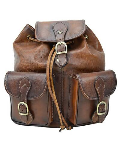 Pratesi Caporalino leather backpack - B345 Bruce Brown