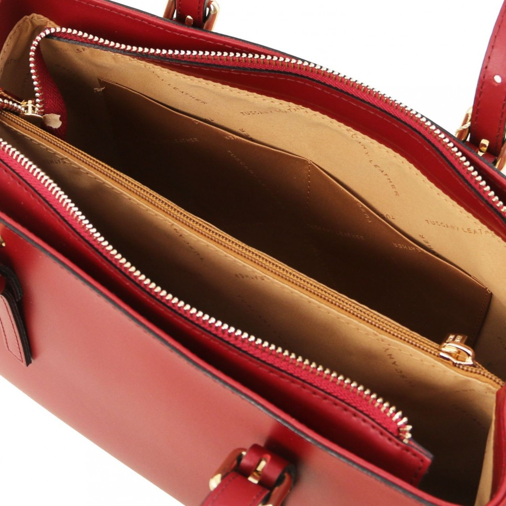 Tuscany Leather Aura Borsa a mano in pelle Rosso - TL141434/4