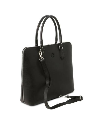 Tuscany Leather Magnolia - Leather business bag for women Black - TL141809/2