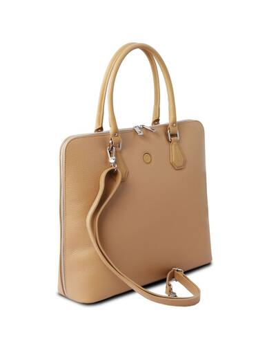 Tuscany Leather Magnolia - Borsa business in pelle per donna Champagne - TL141809/126
