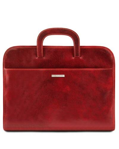 Tuscany Leather - Sorrento - Document Leather briefcase Red - TL141022/4