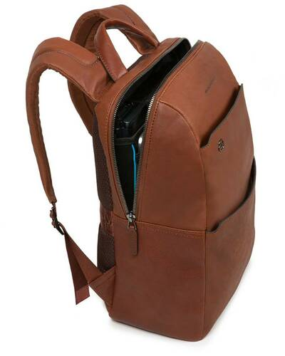 Piquadro Black Square computer backpack with iPad®Air/Pro 9,7/Pro 12,9 compartments, Dark Brown - CA4022B3/TM