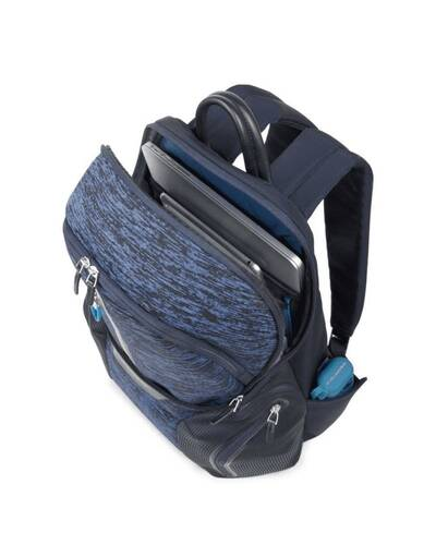 Piquadro Coleos laptop backpack with iPad®Air/Pro 9,7 compartment, USB and micro-USB enclosure, Blue - CA2943OS37/BLU
