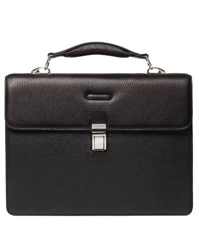 Piquadro Modus Briefcase with two dividers plus double compartment for notebook, Black - CA1152MO/N
