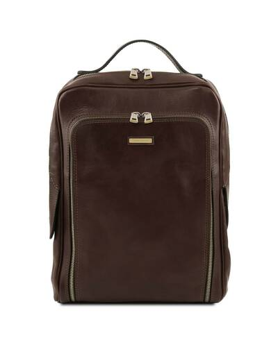 Tuscany Leather Bangkok Zaino porta notebook in pelle Testa di Moro - TL141793/5