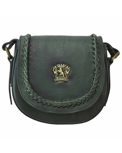Pratesi Torri leather shoulder bag - B294/24 Bruce Dark Green