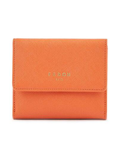 Fedon 1919 - Emily - Women's wallet with flap, Orange - WS1910080/AR