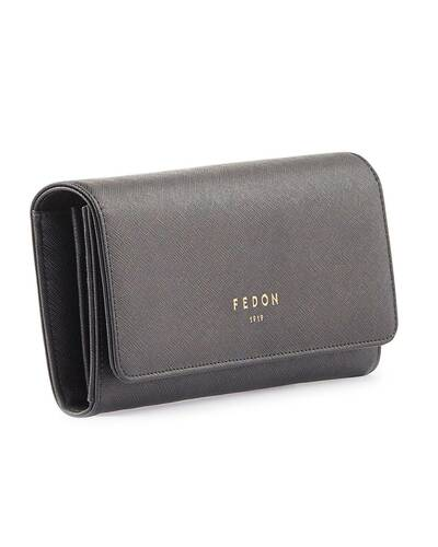 Fedon 1919 - Emily - Large Women's wallet with flap, Black - WS1910076/N