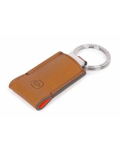 Piquadro BagMotic Leather key-chain with 16GB USB flash drive, Red - AC4240BM/RO