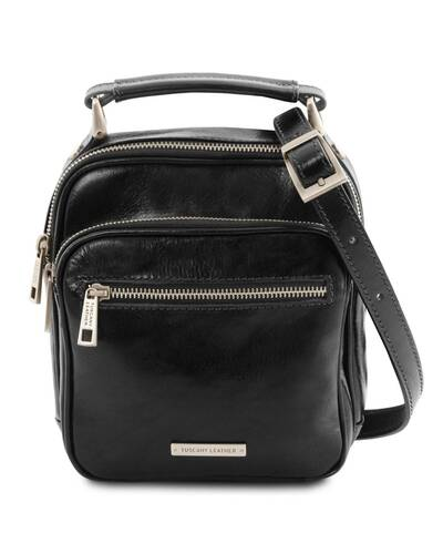 Tuscany Leather - Paul - Leather Crossbody Bag Black - TL141916/2
