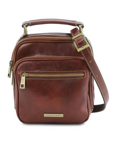 Tuscany Leather - Paul - Leather Crossbody Bag Brown - TL141916/1